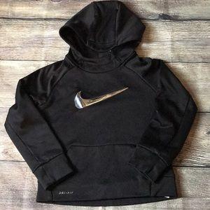 Nike youth black hoodie.  Sz 5